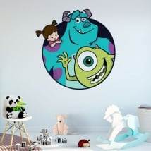 Vinyl and stickers disney monsters university