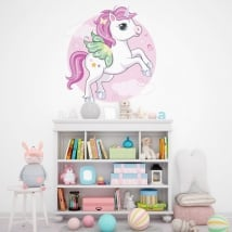 Vinyl and stickers children's unicorn