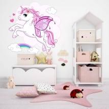 Decorative vinyl and stickers with unicorns