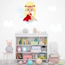 Decorative vinyl and stickers fairy in the clouds