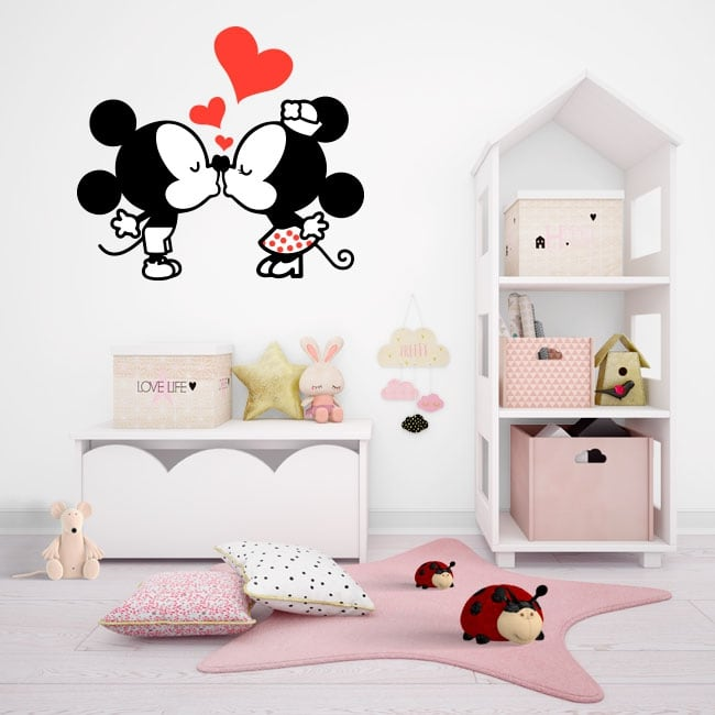 Vinyl stickers mickey and minnie mouse love
