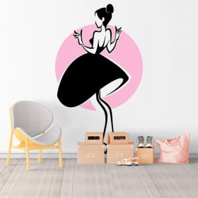 Vinyl and stickers woman silhouette