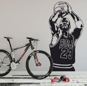 Vinyl and stickers michael jordan basketball