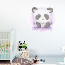 Children's or baby vinyl and stickers panda bear