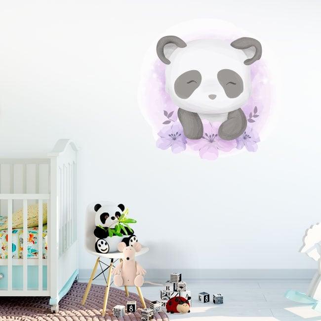 Children's or baby vinyl and stickers panda bear