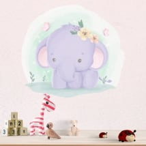 Vinyl stickers for children elephant and butterflies