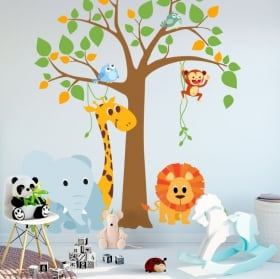 Vinyls and children's stickers tree with animals