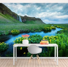 Wall murals seljalandsfoss waterfalls iceland