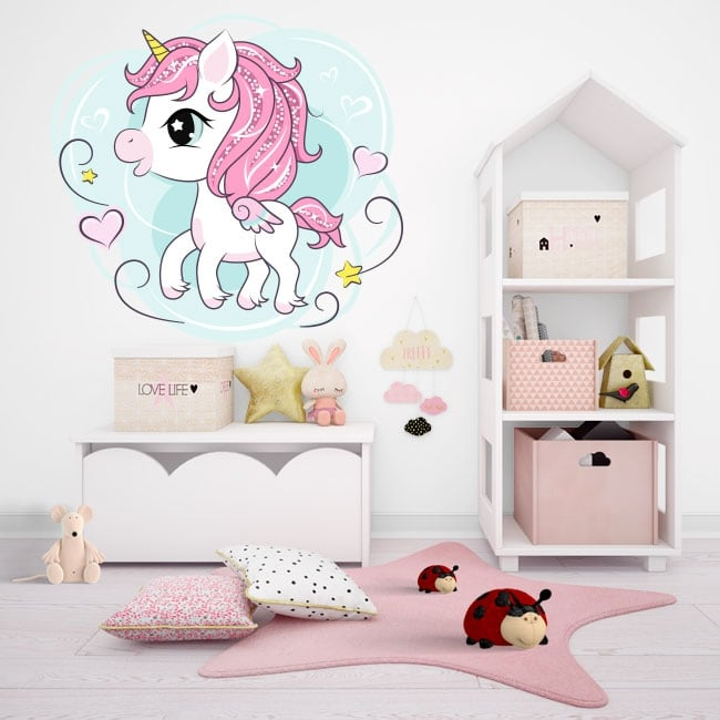 Vinyl and stickers infant unicorn