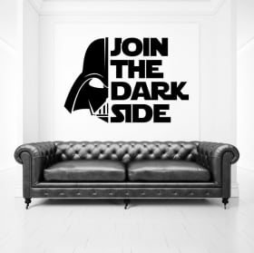 Decorative vinyl and stickers star wars phrases