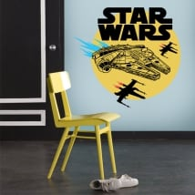 Stickers and vinyl millennium falcon star wars