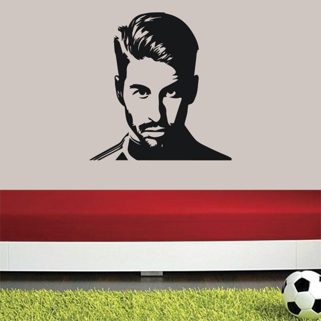 Adhesive vinyl and soccer stickers sergio ramos