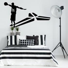 Adhesive vinyl and stickers kobe bryant basketball