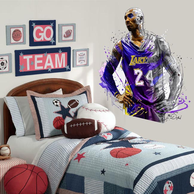 Vinyl and stickers kobe bryant basketball