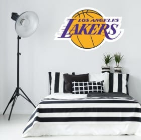 Vinyl and stickers logo los angeles lakers basketball