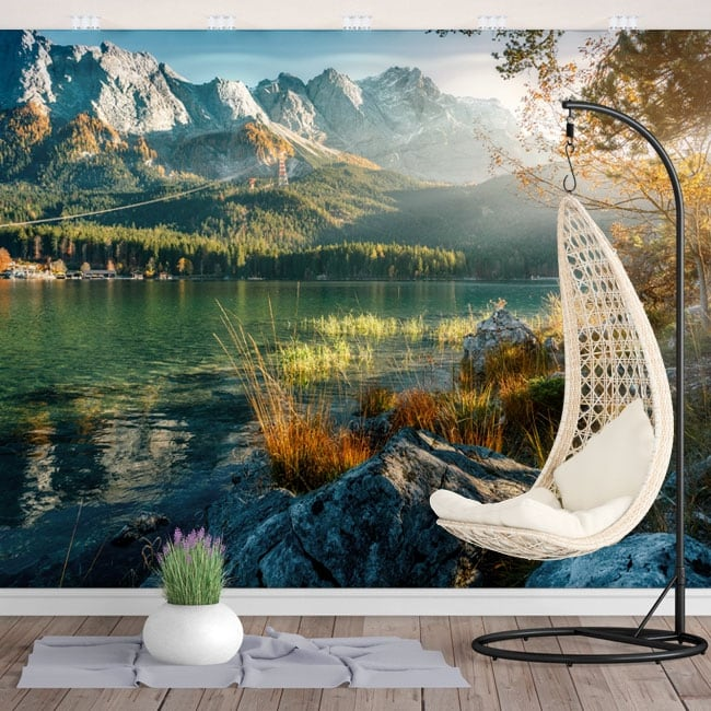 Vinyl wall murals lake eib from munich