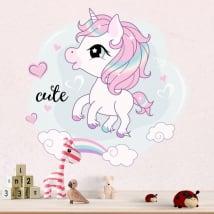 Vinyl stickers infant unicorn