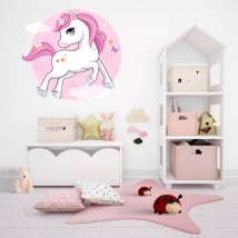 Decorative vinyl and stickers infant unicorn