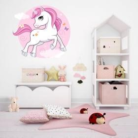 Decorative vinyl and stickers infant unicorn