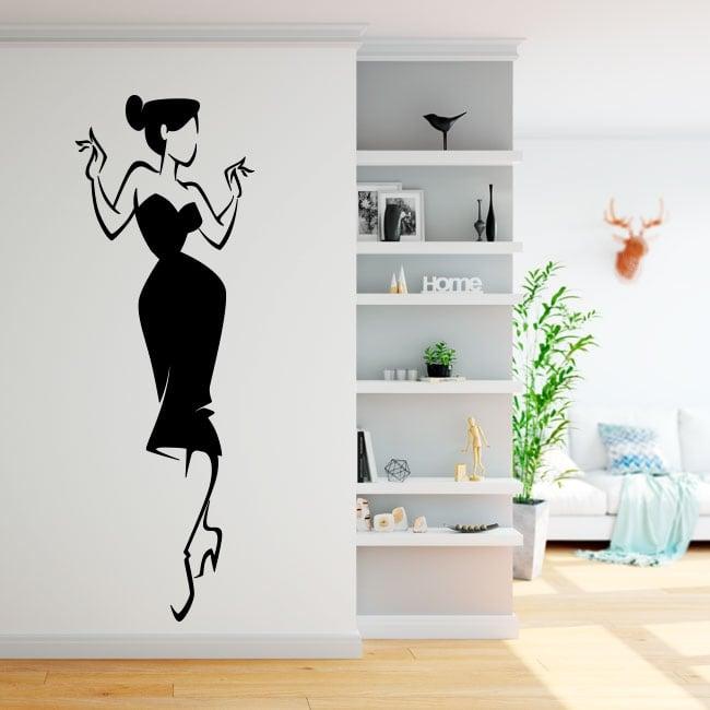 Adhesive vinyl woman silhouette