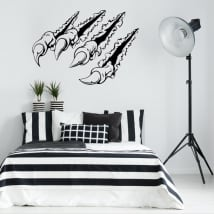 Decorative vinyl and stickers claw 3d effect