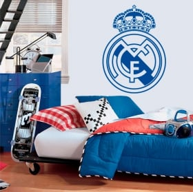 Vinyls and soccer stickers real madrid shield