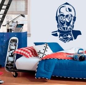 Decorative vinyl c-3po robot star wars