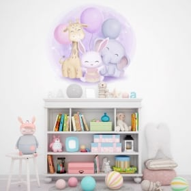 Vinyls and baby stickers children's animals