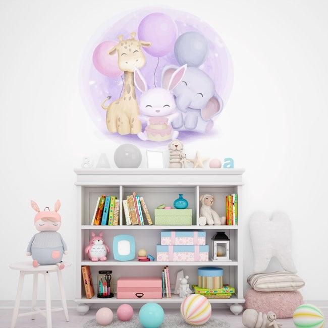 Vinyls and baby stickers children's animals