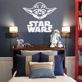 Decorative vinyl and stickers yoda star wars