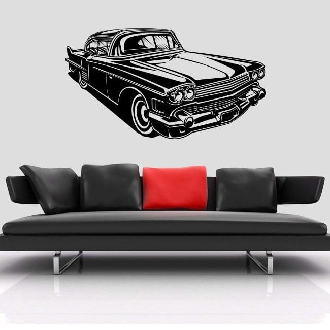 Decorative vinyl or stickers retro car