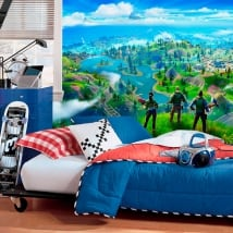 Wall murals adhesive vinyl fortnite video game