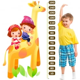 Vinyl and stickers child giraffe meter