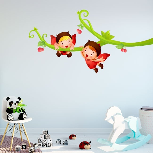 Stickers tree branch and ladybugs children's