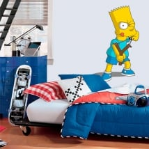 Vinyl and stickers bart simpson