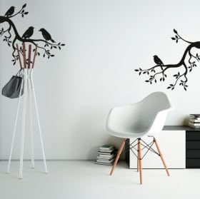 Vinyl and stickers tree branches with birds