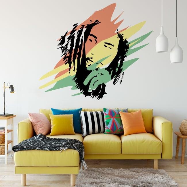 Decorative vinyl and stickers bob marley