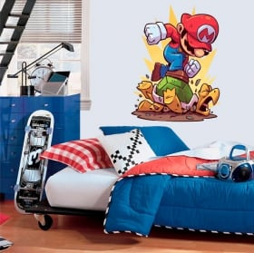 Decorative vinyl game mario bros