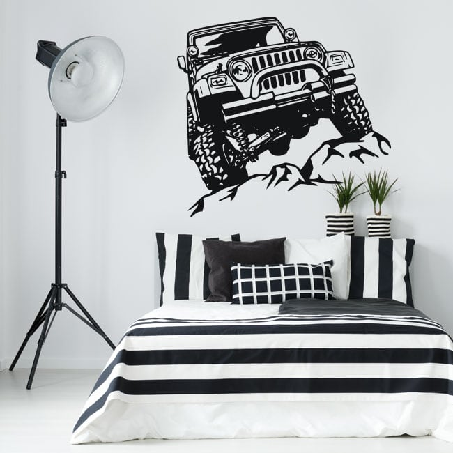 Decorative vinyl and stickers offroad jeep