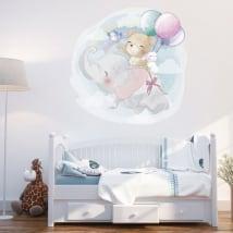 Vinyl and stickers animals children's or baby