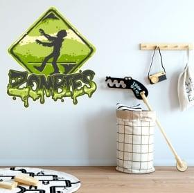 Vinyl and stickers zombie zone