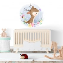 Vinyls and stickers for babies bambi with butterfly