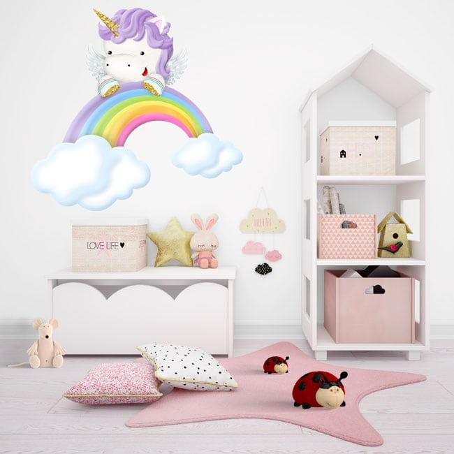 Vinyl stickers for children unicorn and rainbow