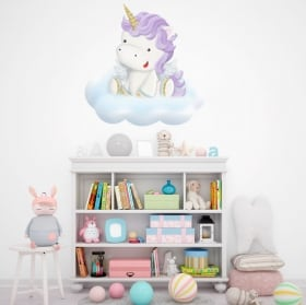Stickers and vinyl for children unicorn in the cloud