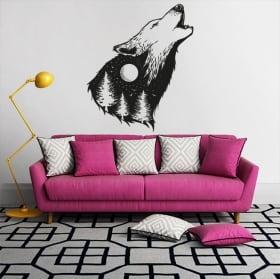 Vinyl stickers wild wolf