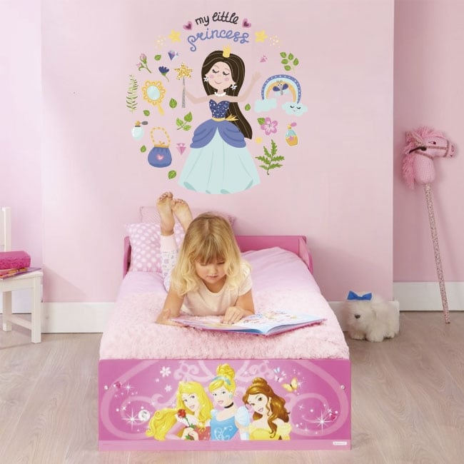 Children's vinyl and stickers with princesses
