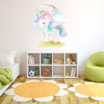 Vinyl stickers unicorn and kite