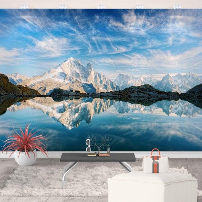 Vinyl wall murals white lake france