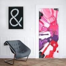 Vinyl and door stickers cosmetic woman