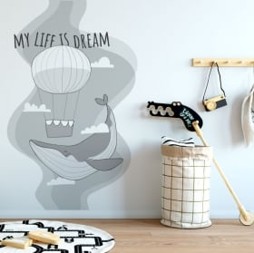 Decorative stickers phrase follow your dreams
